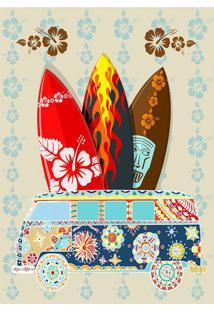 Placa Decorativa Pracha Colorida