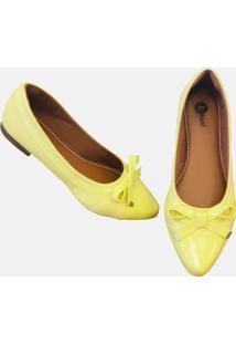 Sapatilha Lifani Laco Amarelo Narciso - Kanui