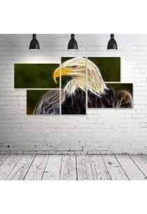 Quadro Decorativo - Eagle-Neon - Composto De 5 Quadros