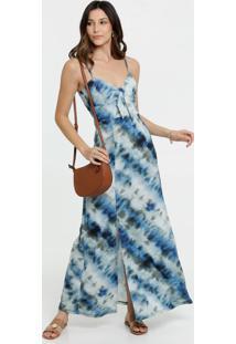Vestido Feminino Estampa Tie Dye Alças Finas Marisa