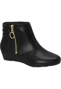 Ankle Boots Feminino Modare Zíper Argola Preto