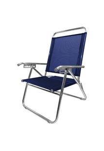 Cadeira De Alumínio Reclinável Zaka King Até 140Kg