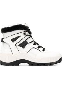 Michael Michael Kors Ankle Boot Brooke Com Cadarço - Branco