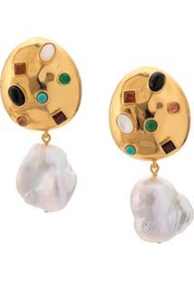 Lizzie Fortunato Jewels La Bomba Earrings - Dourado