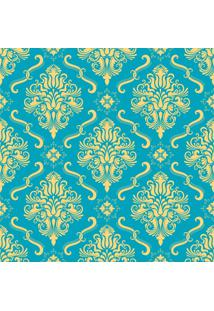 Papel De Parde Sunset Adesivos Arabesco Azul E Amarelo - Rolo 6,00 0,50 M