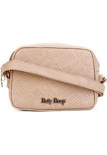 Bolsa Betty Boop Mini Bag Transversal Feminina - Feminino-Nude