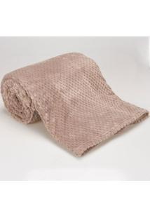 Cobertor Solteiro 1,60X2,20M Dobby Taupe
