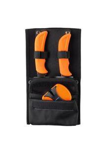 Conjunto De Facas E Afiador Com Bolsa De Transporte Solognac - Game Dressing Kit, .