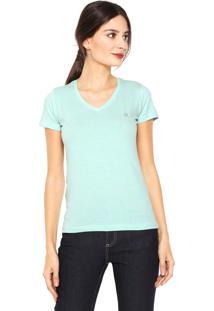 Camiseta Polo Wear Gola V Verde
