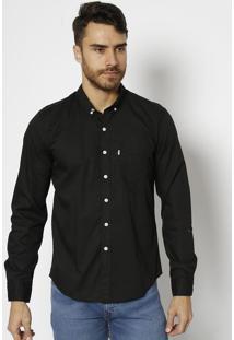 Camisa Lisa Com Bolso- Pretalevis