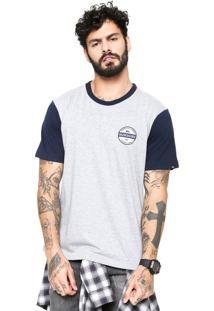 Camiseta Quiksilver Snaken Cinza