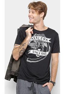 Camiseta Cavalera Manga Curta Estampada Masculino - Masculino