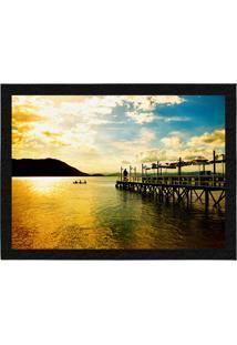 Capacho - Tapete Colours Creative Photo Decor - Pier Em Florianópolis Amarelo