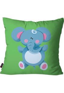 Capa De Almofada Pump Up Avulsa Verde Elefante 45X45Cm - Verde - Dafiti