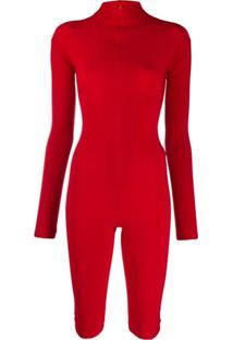 Atu Body Couture Body Gola Alta - Vermelho