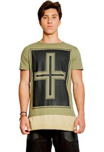 T-Shirt Wosmock Johnny Alongada - Feminino-Verde