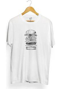 Camiseta Long Beach Burger Open Masculina - Masculino-Branco