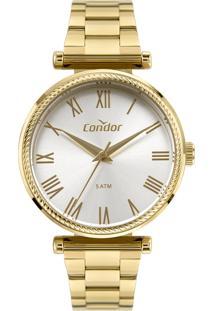 Relógio Condor Feminino Coleção Analógico Dourado Co2035Mugk4K - Kanui