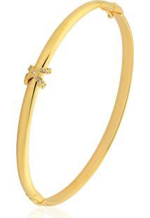 Pulseira Toque De Joia Bracelete X Dourado