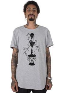 Camiseta Longline Stoned Dark Branches Masculina - Masculino