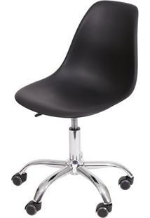 Cadeira Office Eames Dkr- Preta & Prateada- 93X47X41Or Design
