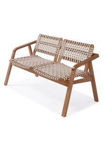Sofa Amores Assento Corda Cor Areia Estrutura Em Madeira Pinhao - 56906 56906