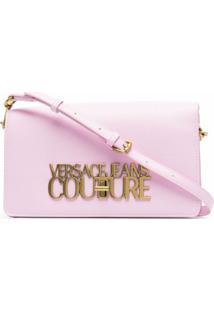 Versace Jeans Couture Bolsa Tiracolo Com Placa De Logo - Rosa