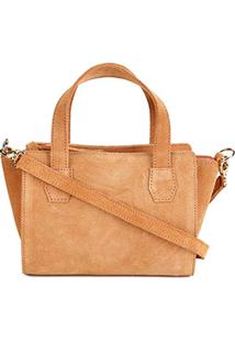 Bolsa Shoestock Mini Bag Tiracolo Camurça Feminina - Feminino-Caramelo 71c24cfa4c9