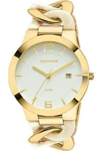 Relógio Technos Feminino Dourado E Madrepérola - 2115Uk/4B 2115Uk/4B - Feminino-Dourado