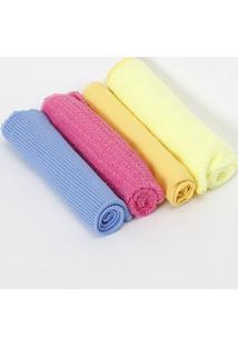 Jogo De Toalhas Para Limpeza Kenya- Amarela & Rosa- M.Cassab