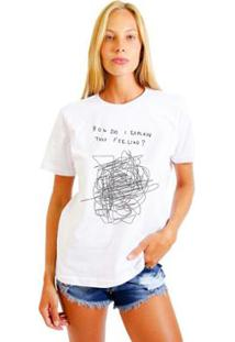 Camiseta Joss Feminina Estampada How Do - Feminino-Branco