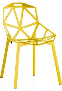 Cadeira One - Penélope - Design - Metal - Amarelo
