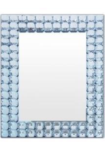 Espelho Em Relevo- Espelhado & Azul Claro- 50X38X3Cmbtc Decor