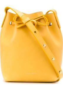 Mansur Gavriel Bolsa Bucket Mini Com Cordão De Ajuste - Amarelo