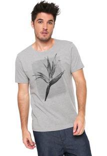 Camiseta Aramis Floral Cinza