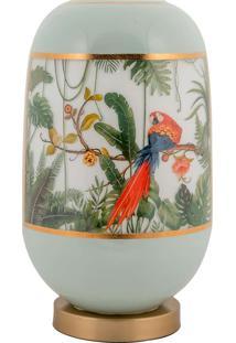 Vaso Decorativo De Cristal E Bronze Iv - Linha Botanique