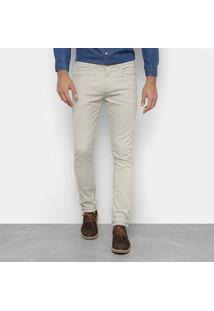 Calça Skinny Preston Color Masculina - Masculino-Areia