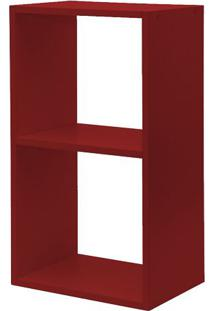 Nicho Com 1 Divisória Para Livros Para Fixar Na Parede Vermelho L 60 X P 24 X A 33