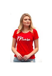 Camiseta Miss Glamour Store Muse Vermelha