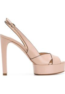 Casadei Sandália Color Block - Rosa