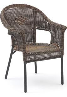 Cadeira Empilhável Fiore Com Trama Mestra Móveis Linha Fibras