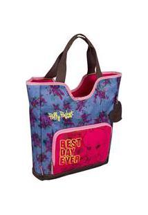 Bolsa Polly Pocket | Cor: Rosa/Jeans