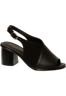 Sandal Boot Em Couro E Nobuck Preta
