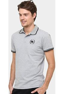 Camisa Polo Rg 518 Gola Poá Masculina - Masculino-Mescla