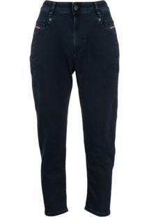 Diesel Calça Jeans Cintura Alta - Azul