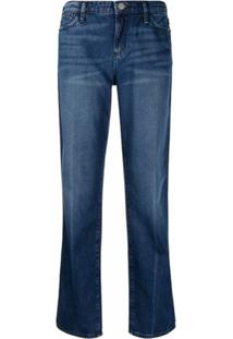 Emporio Armani Calça Jans Ampla J15 Com Efeito Desgastado - Azul