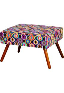 Puff Lym Decor Charme Multicolorido