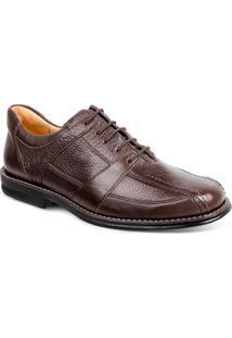 Sapato Social Masculino Conforto Sandro Moscoloni New Joe Marrom