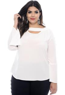 Blusa Art Final Plus Size Monica Off White