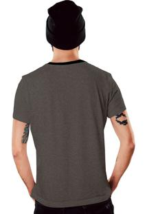 Camiseta Cinza Mescla Camuflada Militar Di Nuevo